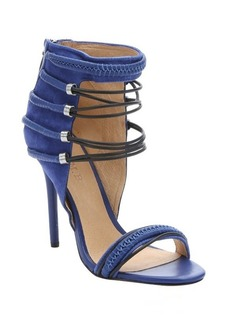 L.A.M.B. intense blue suede and leather 'Katelyn' strappy sandals