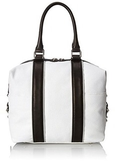 L.A.M.B. Jessica Top Handle Bag, White, One Size