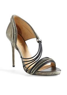 L.A.M.B. 'Karoline' Metallic Leather Platform Sandal (Women)
