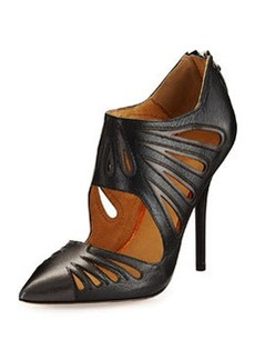 L.A.M.B. Kegan Leather Cutout Pump,