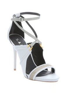 L.A.M.B. light blue and grey leather 'Barrie' strappy sandals