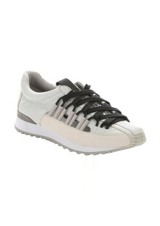 L.A.M.B. light grey leather 'Bennie' lace-up sneakers