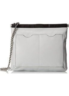 L.A.M.B. Metal Chain Cross Body Bag, White/Black, One Size