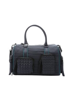 L.A.M.B. midnight quilted leather 'Eady' convertible duffel bag