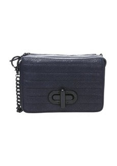 L.A.M.B. midnight snakeskin embossed leather 'Esta' crossbody
