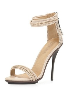 L.A.M.B. Mixed-Media High-Heel Sandal