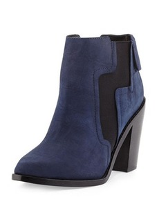 L.A.M.B. Mojo Crocodile-Embossed Bootie