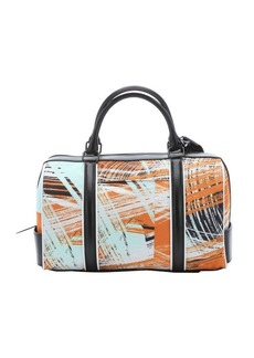 L.A.M.B. orange and black brush stroke print canvas 'Gretchen' convertible duffle tote