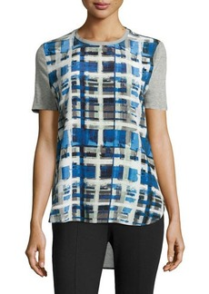 L.A.M.B. Plaid Short-Sleeve Tee