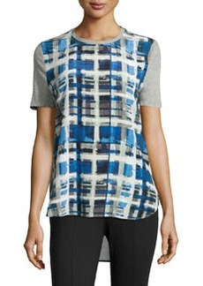 L.A.M.B. Plaid Short-Sleeve Tee, Multi