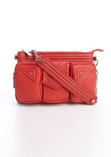 L.A.M.B. red leather wide strap detail 'Carina' shoulder bag