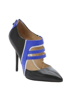 L.A.M.B. royal blue and black leather 'Wilson' stiletto pumps