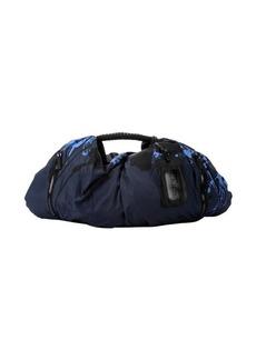 L.A.M.B. splatter print blue nylon 'Ekta' hobo tote bag