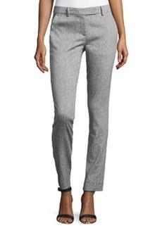 L.A.M.B. Stretch Skinny Pants, Silver Gray