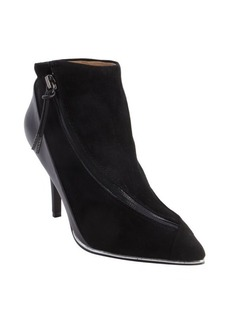 L.A.M.B. suede and leather pointed toe zip closure 'Levi' booties