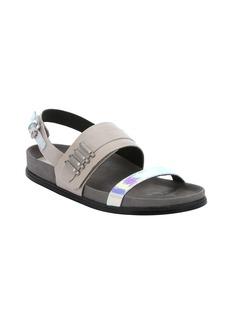 L.A.M.B. taupe leather 'Bradyn' slingback sandals