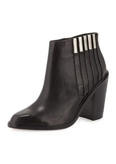L.A.M.B. Todd Leather Ankle Boot, Black
