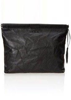 L.A.M.B. Top Zipper Pouch Clutch