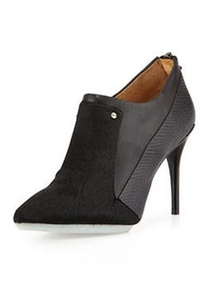 L.A.M.B. Tracie Leather and Calf Hair Bootie, Black