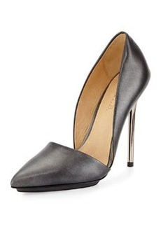 L.A.M.B. Trina Leather Pump, Gunmetal