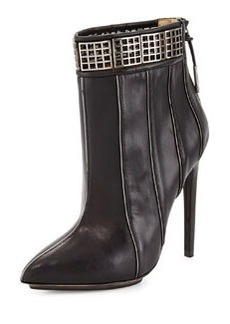 L.A.M.B. Troy Leather Ankle Boot, Black