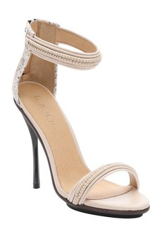L.A.M.B. vanilla and rose leather 'Kanye' stiletto sandals