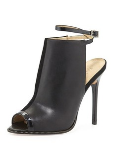 L.A.M.B. Ward Leather Peep-Toe Pump