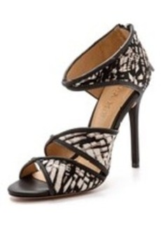 L.A.M.B. Waren Print Haircalf Sandals