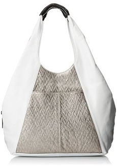 L.A.M.B. Women's Gabe Hobo, White, One Size
