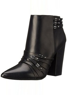 L.A.M.B. Women's Martini Boot, Black Leather, 6  M US