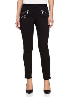 L.A.M.B. Zip-Pocket Skinny Pants