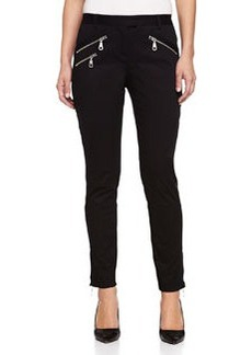 L.A.M.B. Zip-Pocket Skinny Pants, Black