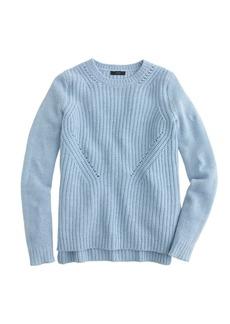 Lambswool pointelle sweater