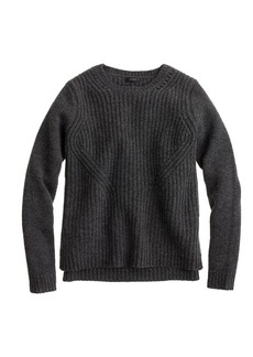 Lambswool pointelle sweater