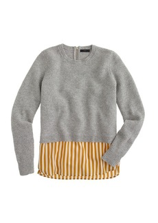 Lambswool shirttail sweater in stripe