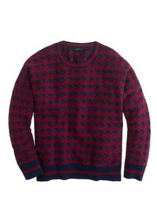 Lambswool sweater in houndstooth