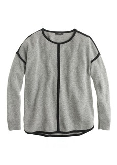 Lambswool tipped sweater-tunic