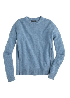 Lambswool zip sweater