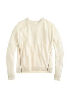 Lambswool zip sweater