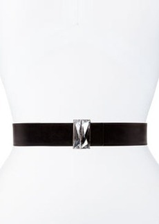 Belt with Inlay Buckle, Black   Belt with Inlay Buckle, Black