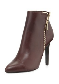 Cap-Toe Metal-Trim Ankle Boot   Cap-Toe Metal-Trim Ankle Boot