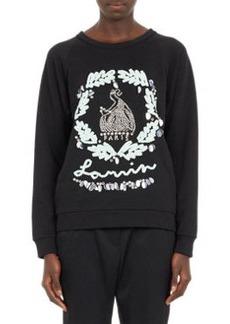 Embellished Lanvin-Logo Sweatshirt