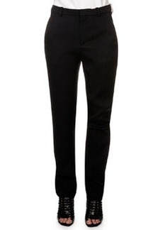 Flat Front Trousers, Black   Flat Front Trousers, Black