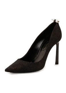 Glitter Pearly-Bar Pump, Black   Glitter Pearly-Bar Pump, Black
