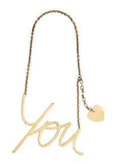 Golden Heart You Pendant Necklace   Golden Heart You Pendant Necklace