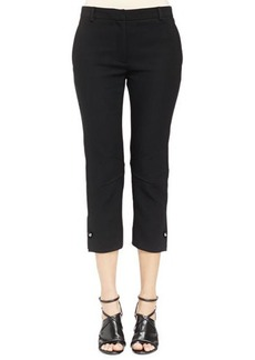 Lanvin Ankle Pants with Stud Cuff Detail