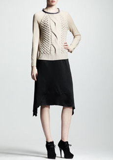 Lanvin Asymmetric Satin Skirt
