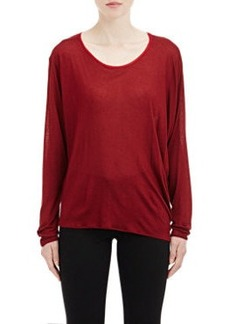 Lanvin Asymmetric-Sleeve Top