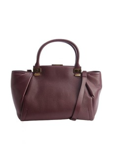 Lanvin aubergine leather top handle 'Trilogy' bag