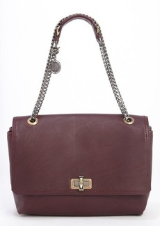 Lanvin aubergine soft calfskin 'Happy' shoulder bag